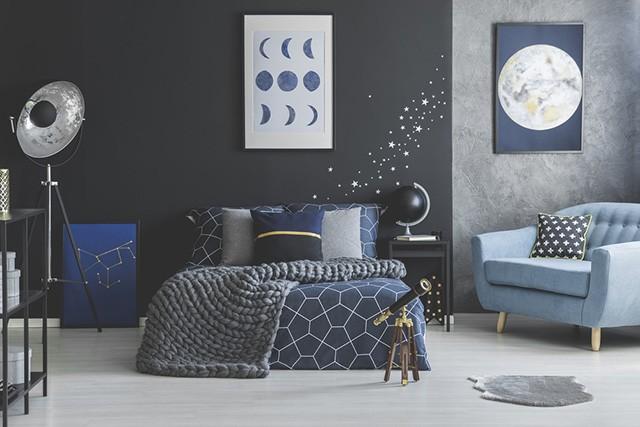 Navy spalvos miegamasis