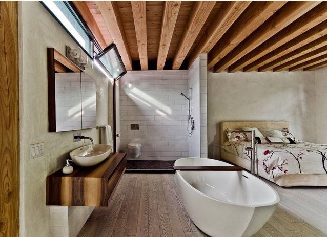 atviro tipo vonios interjeras