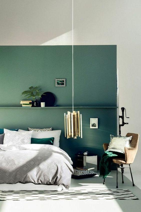 žalias miegamasis