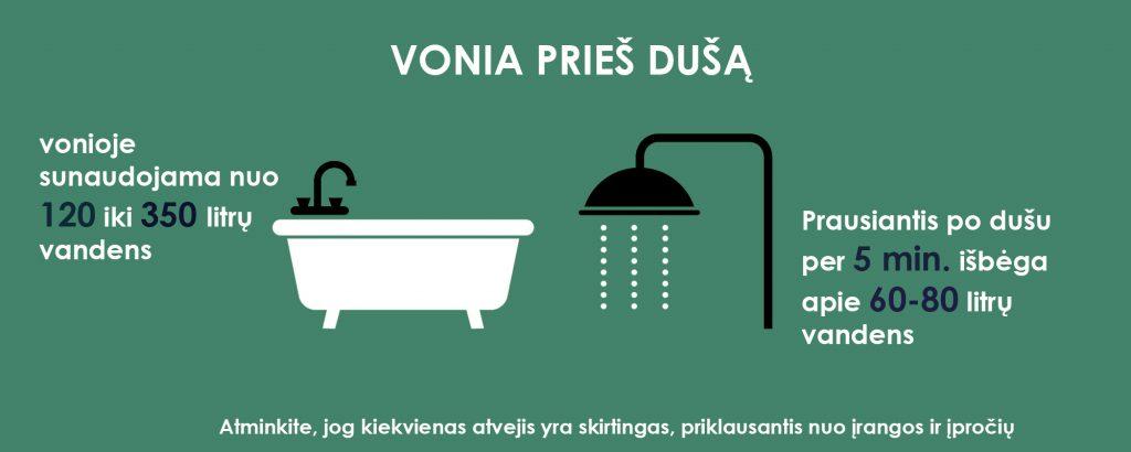 duso ir vonios palyginimas